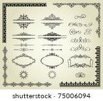lots of design elements  labels ... | Shutterstock .eps vector #75006094