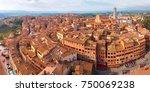 beautiful aerial panoramic view ... | Shutterstock . vector #750069238