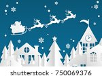 vector illustration of santa... | Shutterstock .eps vector #750069376