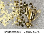 gold winners achievement trophy ... | Shutterstock . vector #750075676