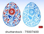 set of floral easter eggs