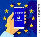 gdpr   general data protection... | Shutterstock .eps vector #750077992
