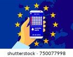 gdpr   general data protection... | Shutterstock .eps vector #750077998