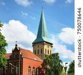 tower of st.katharinen church... | Shutterstock . vector #750078646