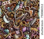 cartoon cute doodles hand drawn ... | Shutterstock .eps vector #750080212