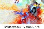 bright artistic splashes.... | Shutterstock . vector #750080776