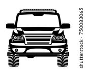 car 4x4 suv logo vector... | Shutterstock .eps vector #750083065