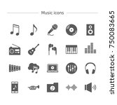 music icons set. | Shutterstock .eps vector #750083665