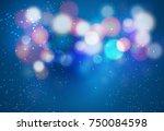 blue bokeh background   Shutterstock .eps vector #750084598