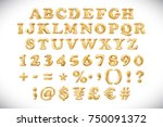 raster copy english alphabet... | Shutterstock . vector #750091372