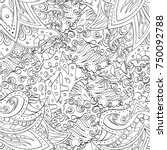 tracery seamless pattern.... | Shutterstock .eps vector #750092788