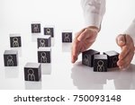selection and analysis... | Shutterstock . vector #750093148