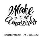vector hand drawn poster with... | Shutterstock .eps vector #750103822
