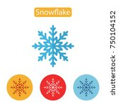 snowflake icon isolated on... | Shutterstock .eps vector #750104152