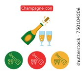 vector champagne icon.... | Shutterstock .eps vector #750104206