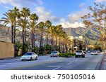 street traffic in the city of... | Shutterstock . vector #750105016