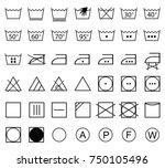 Icon Set Of Laundry Symbols ...
