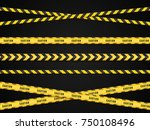caution lines isolated. warning ... | Shutterstock .eps vector #750108496