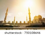 sheikh zayed mosque  abu dhabi  ... | Shutterstock . vector #750108646