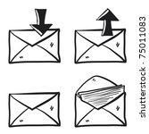 Letter Sketch. Envelope Drawin...