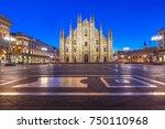 piazza del duomo  cathedral... | Shutterstock . vector #750110968