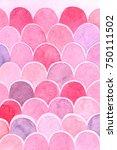 watercolor scales gradient...   Shutterstock . vector #750111502