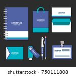 business printed advertising... | Shutterstock .eps vector #750111808