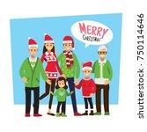 cartoons character christmas... | Shutterstock .eps vector #750114646