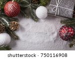 christmas decorative elements... | Shutterstock . vector #750116908