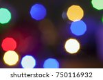 christmas decorative elements... | Shutterstock . vector #750116932