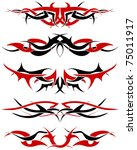 patterns of black and red... | Shutterstock .eps vector #75011917
