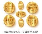 vector set golden web luxury... | Shutterstock .eps vector #750121132