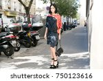 paris september 30  2015. leigh ... | Shutterstock . vector #750123616