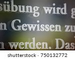 "Small photo of Gewissen (""Conscience"") - Principle for Members of Parliament according to Article 38 of the German ""Grundgesetz"" (Constitution)"