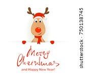 Christmas Character Deer Behin...