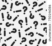 retro memphis pattern  ...   Shutterstock .eps vector #750146086