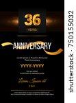 36 years golden anniversary... | Shutterstock .eps vector #750155032
