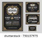 vintage luxurious wedding... | Shutterstock .eps vector #750157975