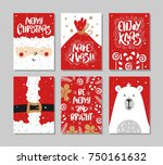 vector merry christmas and... | Shutterstock .eps vector #750161632