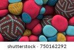 3d rendering of colored... | Shutterstock . vector #750162292