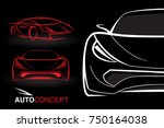 abstract auto concept vehicle... | Shutterstock .eps vector #750164038