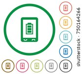 mobile battery status flat... | Shutterstock .eps vector #750164266