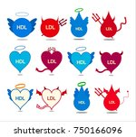 collage of good and bad... | Shutterstock .eps vector #750166096