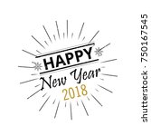 happy new year 2017 vector... | Shutterstock .eps vector #750167545