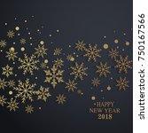 happy new year 2017 vector... | Shutterstock .eps vector #750167566
