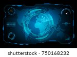 futuristic hud virtual screen... | Shutterstock .eps vector #750168232