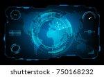 futuristic hud virtual screen... | Shutterstock .eps vector #750168232