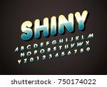 vector of modern metallic font... | Shutterstock .eps vector #750174022