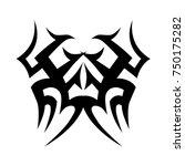 tribal pattern tattoo vector... | Shutterstock .eps vector #750175282