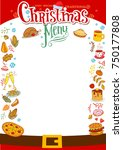 chistmas menu layout with... | Shutterstock .eps vector #750177808